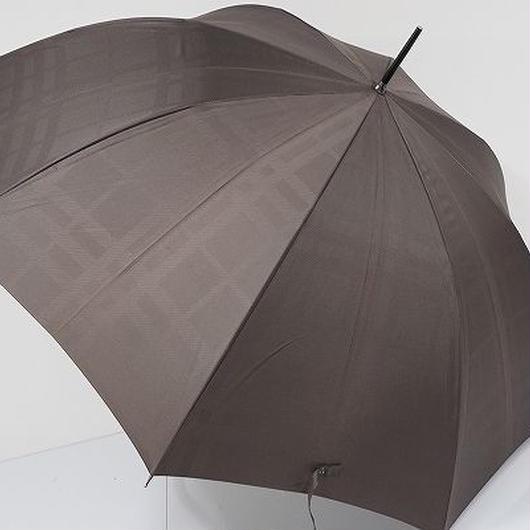 A0837 BURBERRY バーバリー 紳士傘 USED美品 ジャガードチェック 65cm 細巻 中古 ブランド
