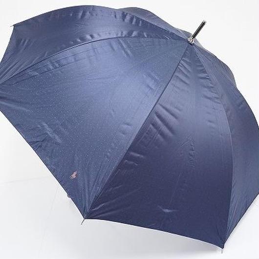 S3562 Ralph Lauren ラルフローレン 晴雨兼用紳士耐風傘 USED美品 ドット 細巻 遮光 大判 65cm 中古ブランド