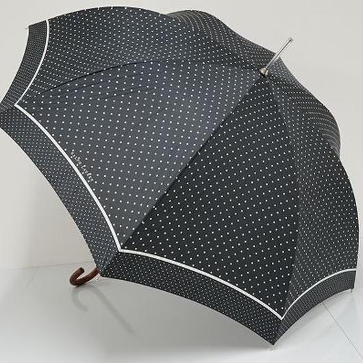 S5629 Ralph Lauren ラルフローレン 高級傘 USED超美品 ダブルドット モノトーン 60cm 中古 ブランド