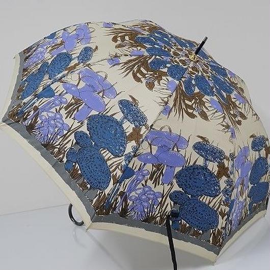 A7658 Cassalini fifth Avenue キャセリーニ フィフス アベニュー 晴雨兼用傘 USED超美品 キノコ 55cm 中古 ブランド
