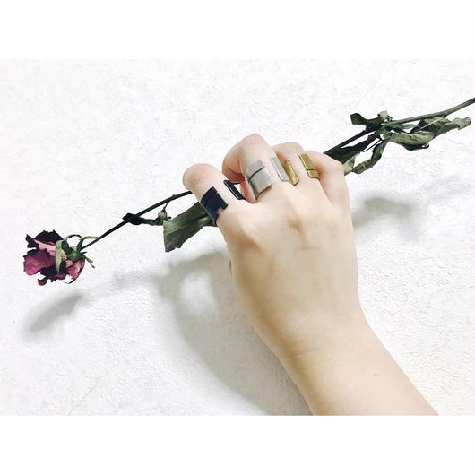 侘び寂び ring(禅 black brass)