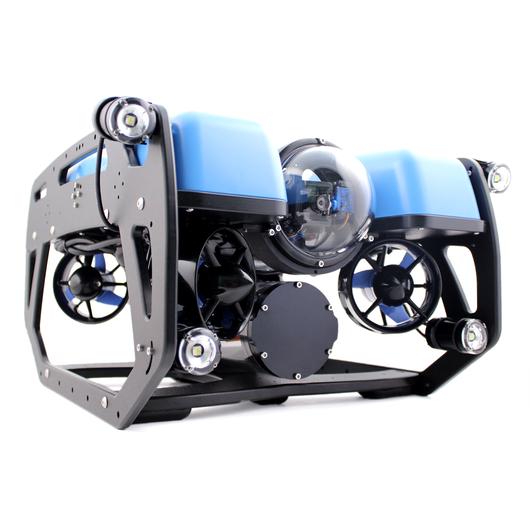 【組立調整済み】BlueROV2 水深100M対応・外部ライト4個搭載・100Mテザーケーブル・水中コネクタ付属モデル スターティングセット(水中ドローン社エディション)