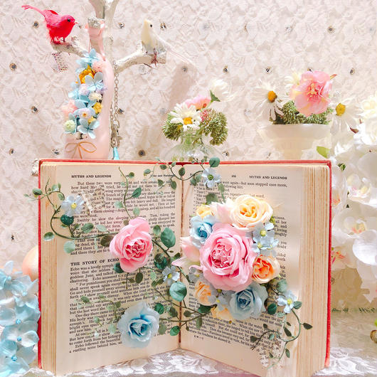 antique book arrangement