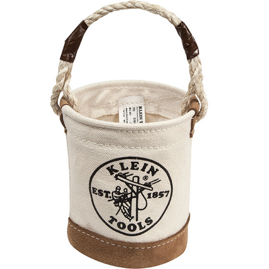 Mini Leather-Bottom Bucket