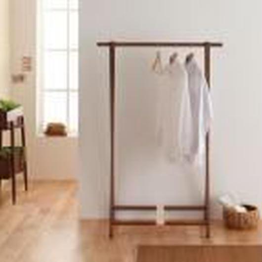 木製折り畳み式コートハンガー