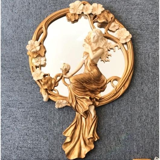 女神のウォールミラー(壁掛け鏡)  2