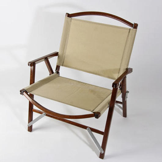 Kermit Wide Chair, Beige, Walnut