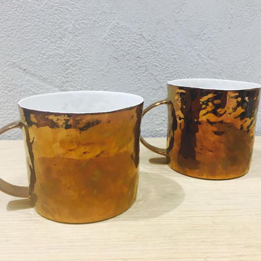 中囿義光 マグカップ、ブロンズ