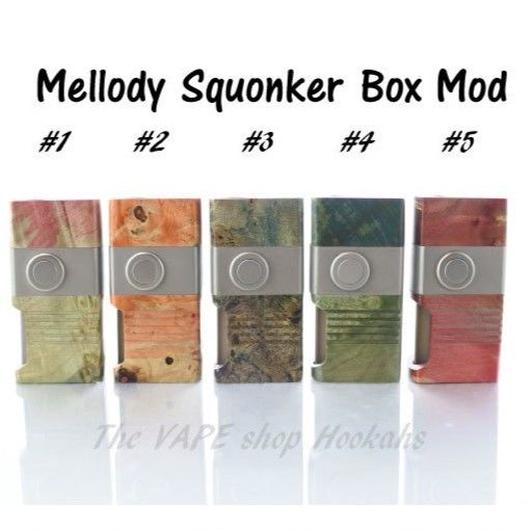 Mellody Squonker Stabilized wood Box Mod 18650 size
