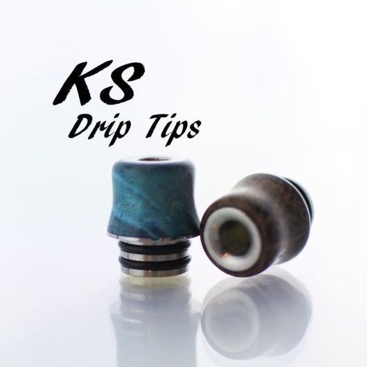 KS drip tip 「クビレショート type #2」 スタビライズドウッド ドリップチップ 510径