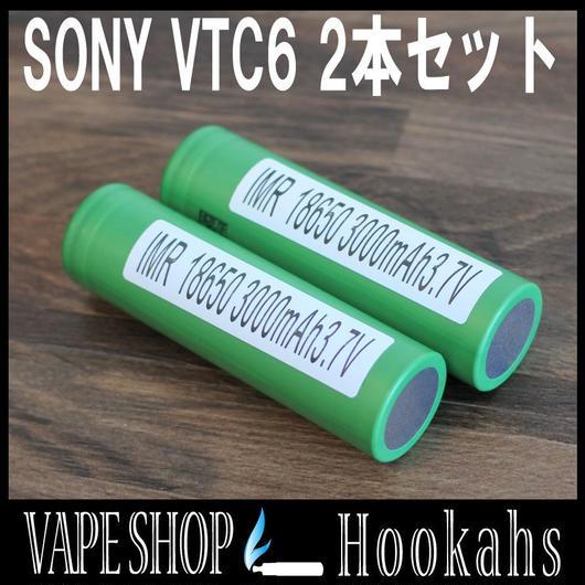 SONY VTC6 2本セット バッテリーケース付 3000mAh 20A IMR 18650