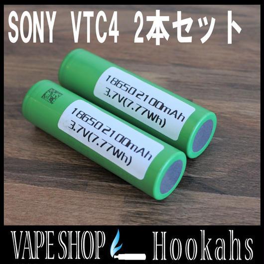 SONY VTC4 2本セット バッテリーケース付 2100mah 30A 3.7V 18650