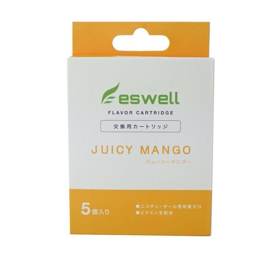 【ploomTECK互換】バッテリー電子タバコ用カートリッジ eswell ビタミン配合フレーバーカートリッジ 4種類  5本入り