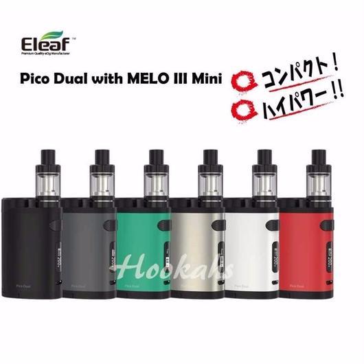【VTC4バッテリー2本セット】Eleaf Pico Dual with MELO III Mini  200W!リチャージ可能!!