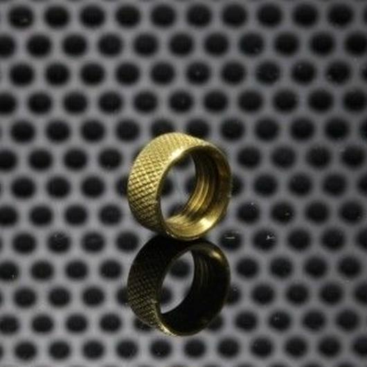 The Golden Greek GGTS-JustGG-Stealth-GGTB Button Locking Ring Brass