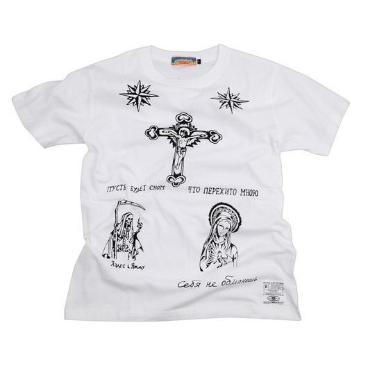 ロシアンタトゥーTシャツ(白)