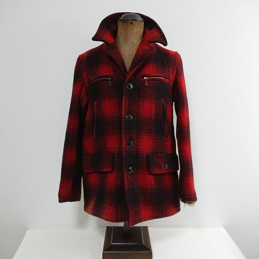 【~1950s  GORDON FEGUSON INC.】 Red Plaid wool jacket
