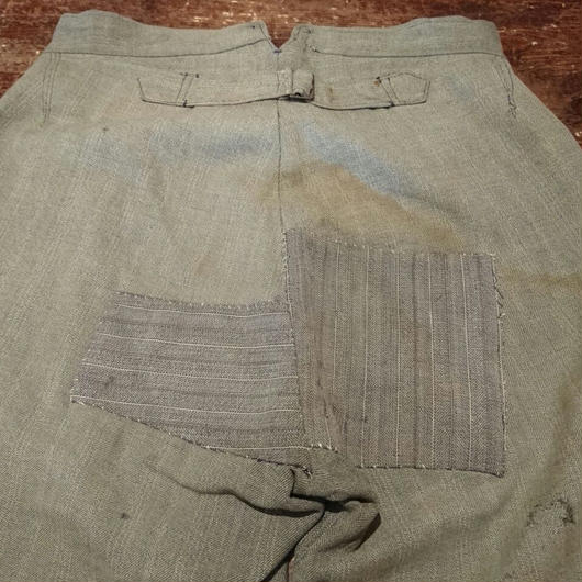 French striped gray Work Shorts
