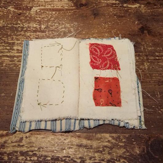 Antique fabric scrapbook
