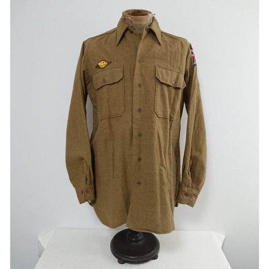 【1940s  U.S.ARMY】Gas flap  Wool shirt