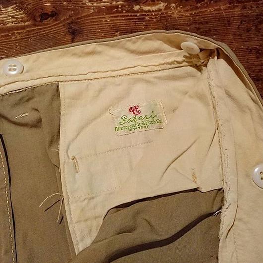 【1950s  Abercrombie  &  Fitch】Cotton  pants