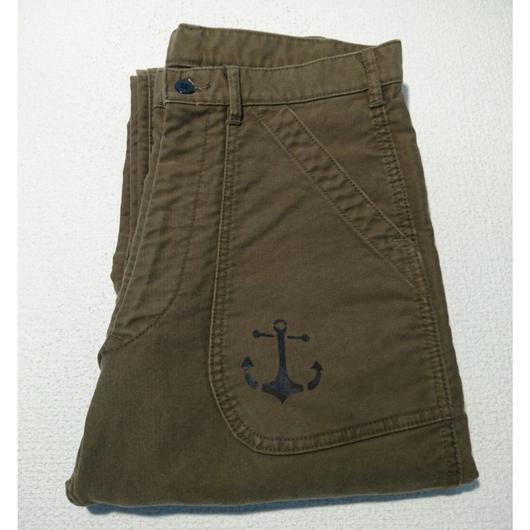 US  NAVY  overall  remake  pants  (green)