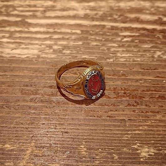 【1918】12K War veterans  Memorial ring