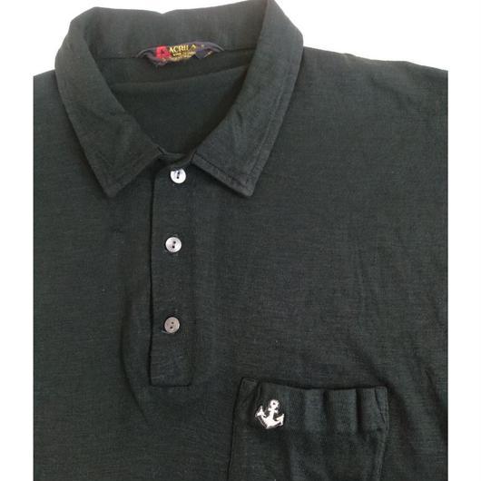 60s~70s   black collar   poroshirt