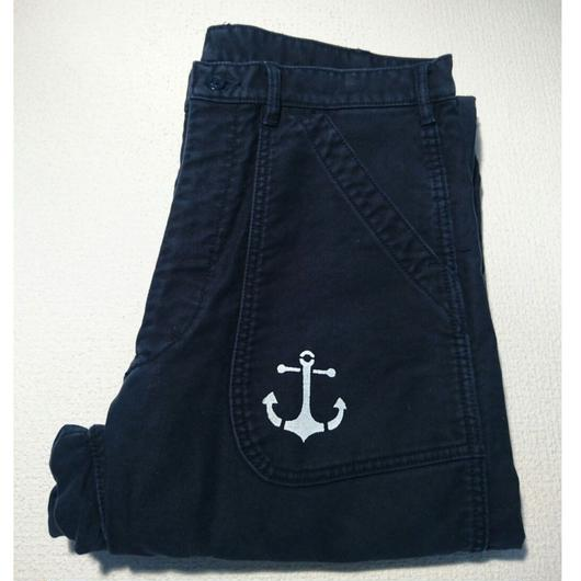 US  NAVY  overall  remake  pants  (blue)