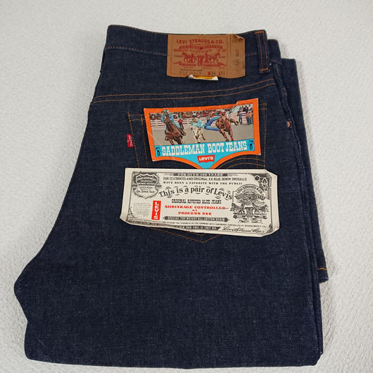 1970s  Levi's  517   Blue  denim  pants   (DEAD  STOCK)