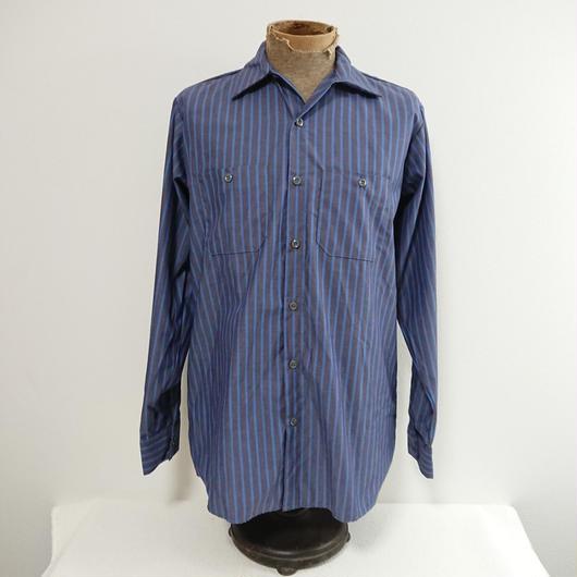 【RED  KAP】  Blue  stripe  work  shirt