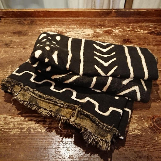 African cotton fabric   ( Dyed with mud )