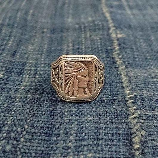 【Indian head pattern】Silver ring