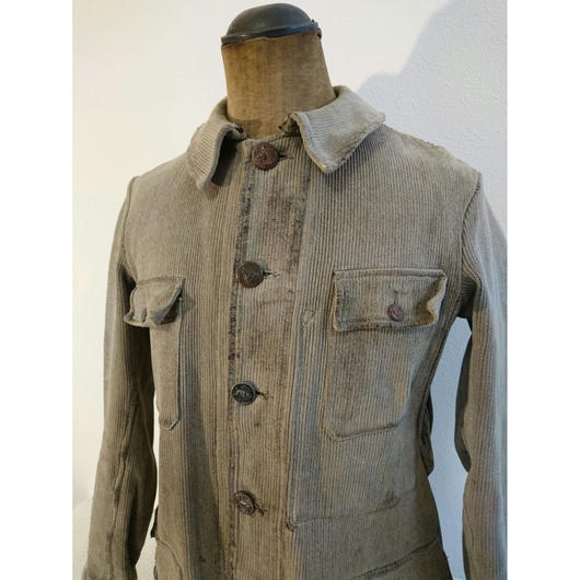 French  gray  hunting   jacket   (damage)