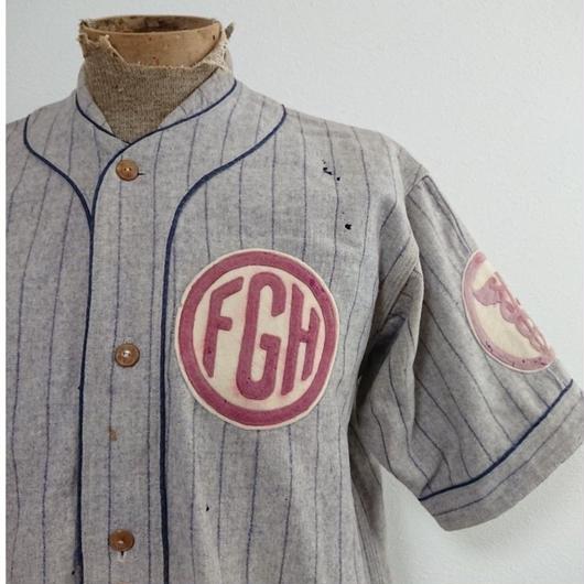 【 1920s~1930s  GOLDSMITH 】Wool  Baseball shirt
