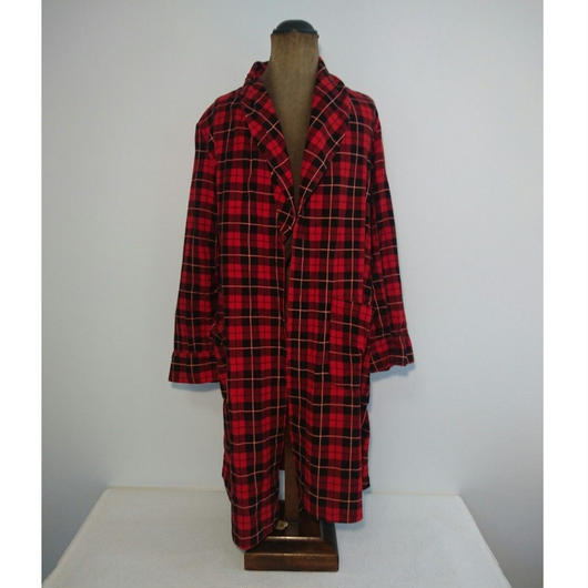 flannel Checked pattern gown