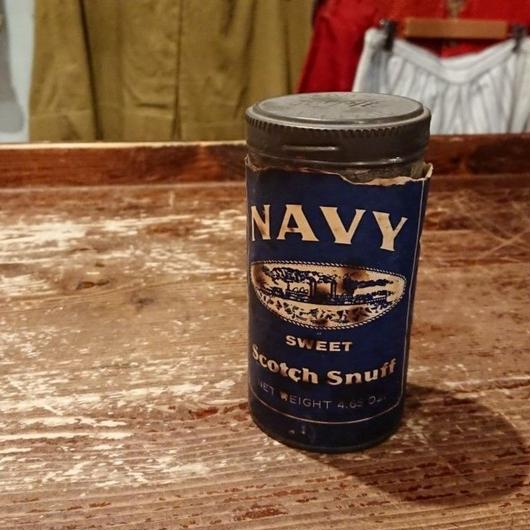 【 ~1950s  NAVY  SWEET Scotch snuff 】Vintage  Can