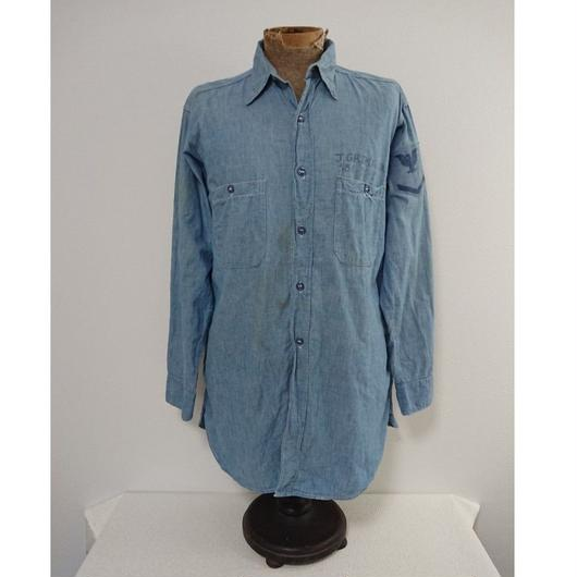 【1940s  U.S.NAVY】Chambray shirt ②