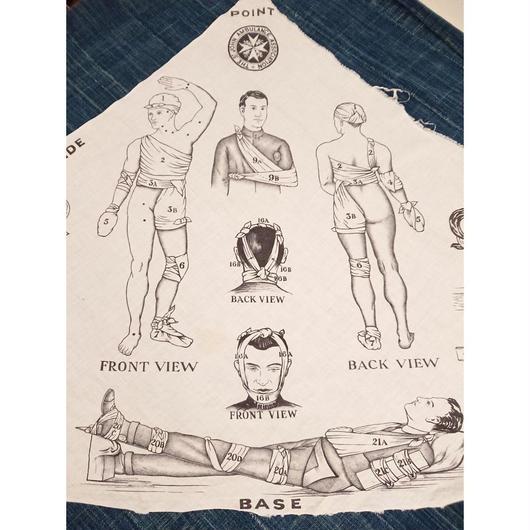 【WW1】Antique   Bandanna for bandages