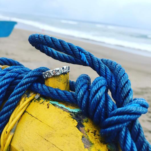 Rope ロゴ リング925シルバー