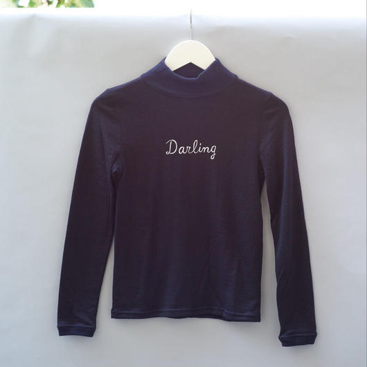 Darling Mid-Neck Sweater / Navy