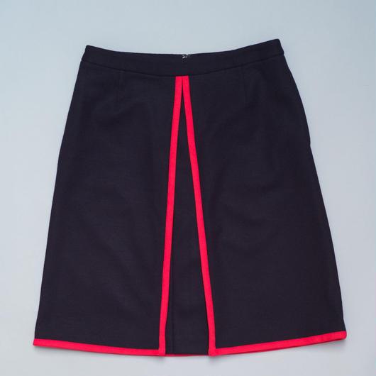 Piping Schoolgirl Skirt/ Navy