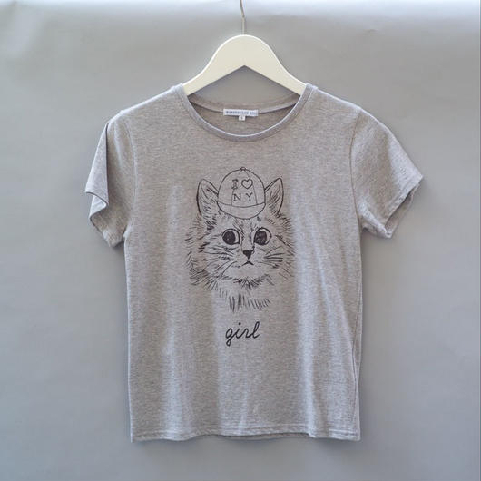 New York Cat T-Shirt グレー