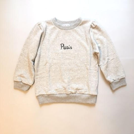 Lady Sweat Shirts Paris GRAY レディスウェットグレー