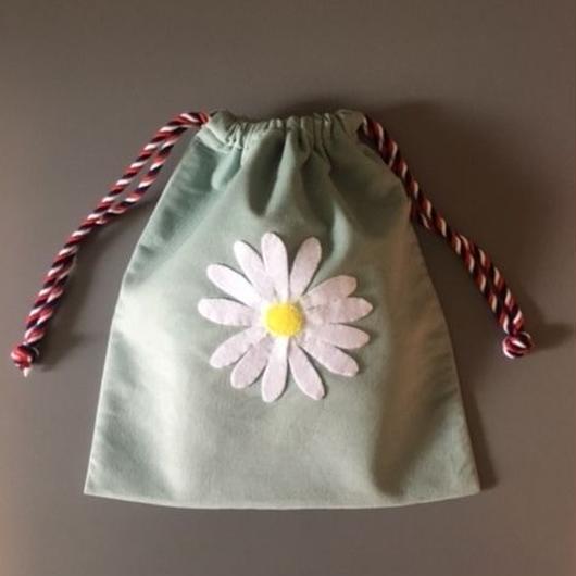 DRAWSTRING BAG DAISY 巾着バッグマーガレット
