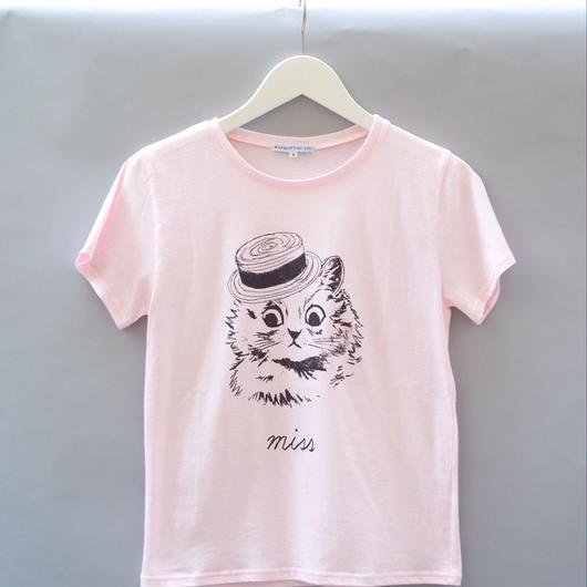 London Cat T-Shirt ピンク