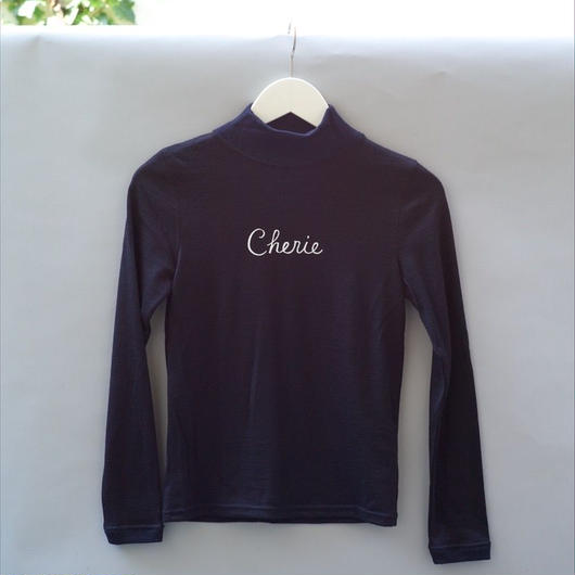 Cherie Mid-Neck Sweater/ Navy