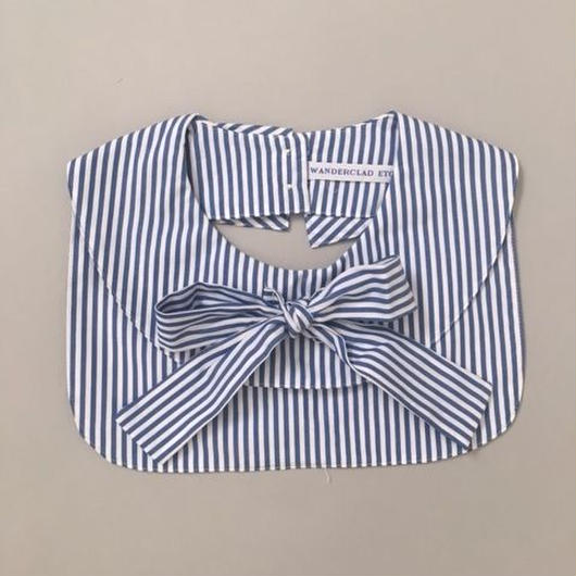 RIBBON COLLAR BLUE STRIPES
