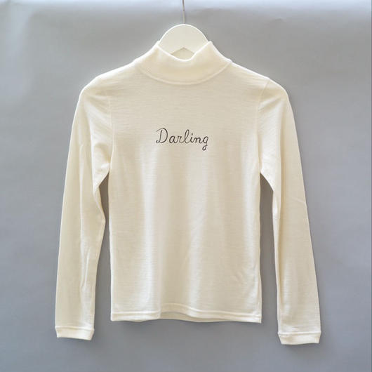 Darling Mid-Neck Sweater/ White