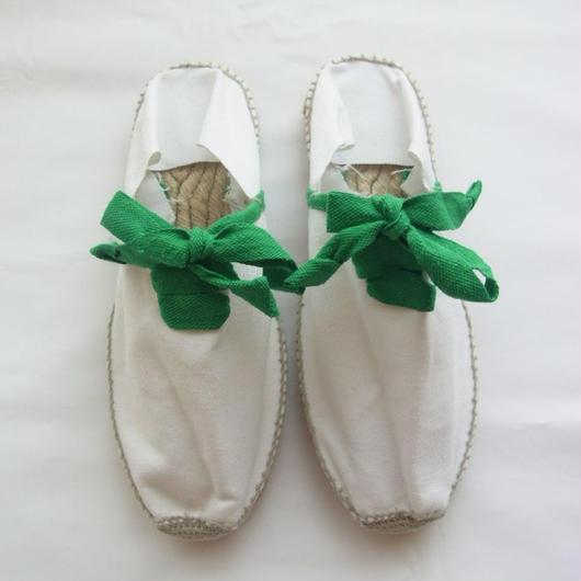 ESPADRILLES WHITE/GREEN エスパドリーユ ホワイト・グリーン